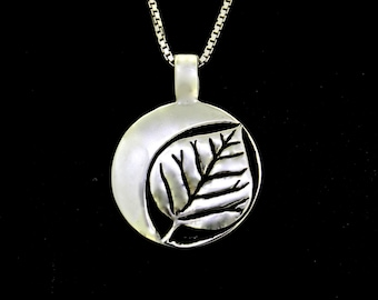 Aspen Grove Moon Necklace, sterling silver