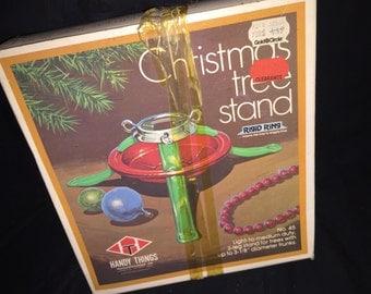 Vintage Christmas Tree Holder in Box
