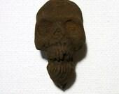Mummified Skull, Voodoo, Hoodoo, New Orleans, Mummy, Amulet, Horror, ZombieHead Pendant