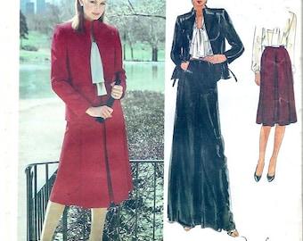 Long skirt jacket Designer Edith Head Evening wear American designer sewing pattern Vogue 2561 Brides mother Uncut Size 14
