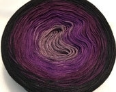 3-ply 100g gradient tied cotton light fingering weight Damask v.1