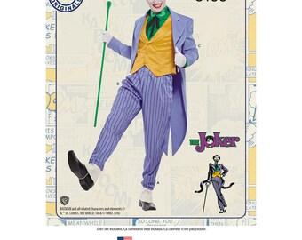 The Joker Simplicity 8195  DC Villian Size 38-44