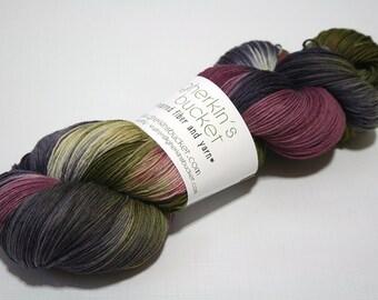 Hand Dyed Artisan Yarn, Hand Painted Variegated Heavy Lace Yarn, Multicolor SW Merino Yarn, Long Stride (750yds) - Motley (dyelot 81716)