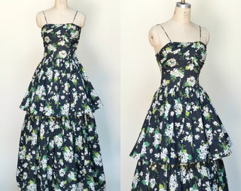 Vintage Fred Perlberg Dance Dress --- 1940s Dress