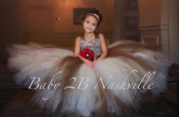 Lace Dress Champagne Lace Dress Cocoa Dress Gold Dress Wedding Dress Tulle Dress Baby Dress Toddler Tutu Dress Girls Tulle Dress Party Dress