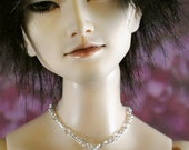BJD Bright Silver Cross Stamping Necklace SD EID Doll Jewelry