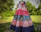 Flower Girls Dress 4 Ready to Ship OOAK Tiered Summer Sundress Dress