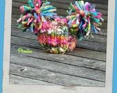 NEWBORN Photography Prop - Baby Knit Hat - Twin Prop - Photo 1 - PeachPoshPolkadots - HandDyed HandSpun Yarn