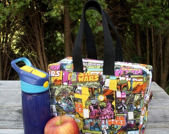 Insulated Lunch Bag Lunch Box Cooler Rectangle Star Wars Comic Book Covers made to order