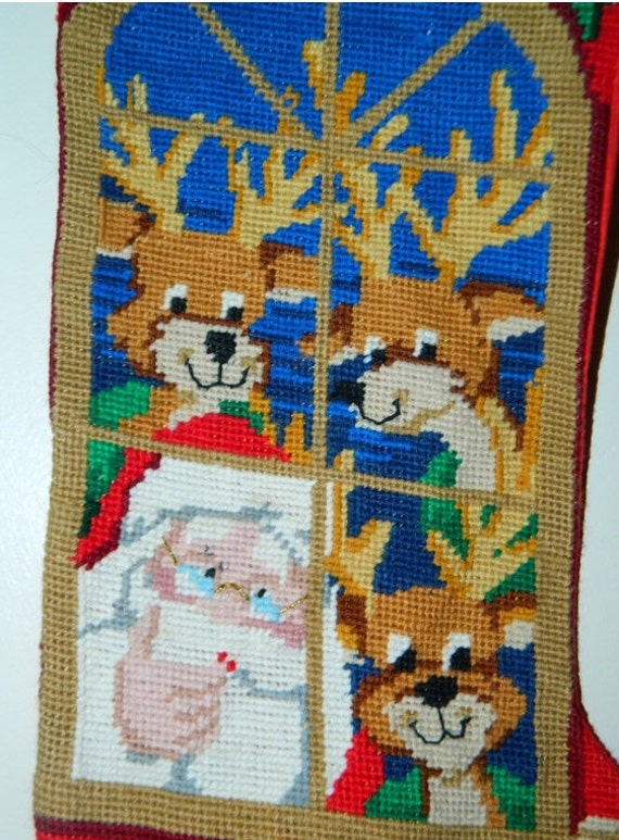 Santa Claus Needlepoint Stockings Page Two
