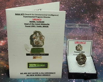 Sale URUACU NASA SETI Extraterrestrial Message We Are Not Alone No New World Order Card With Uruacu Meteorite From Brazil Souvenir Set Sale