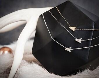 14k Arrowhead Choker   Gold Choker Necklace