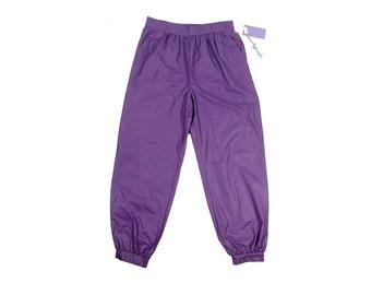 Vintage 80s Pants - Harem Pants - Purple Pants - 80s Harem Pants - High Waist Pants - 80s Purple Pants - New Wave - Hammer Pants - NOS  L XL