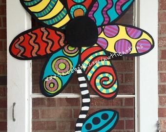 Metal Flower Door Hanger, Spring Door Decor, Summer Door Decor, Easter Door Decoration
