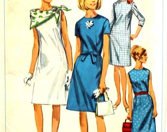 UNCUT Dress with Sleeve Options Bust 36 Simplicity 6862