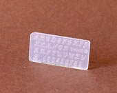 Elegant Font Alphabet Block Letters Miniature Mold
