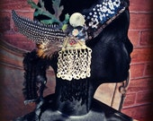 Asymmetry Headdress - Art Deco/Nouveau Fantasy Faerie Tribal Fusion