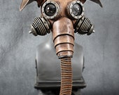 Pachydermos Leather mask with copper ears