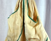 Vintage Dura Products Lady Doll Clothes Pin Bag - Oil Cloth Head - Cloth Body - Laundry Bag - 1940s