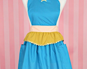 apron JASMINE princess APRON  Princess dress up style  womens full Apron Jasmine costume aprons