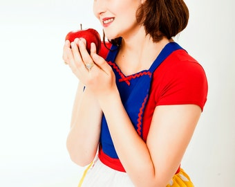 SNOW WHITE apron retro APRON womens full  Halloween costume aprons