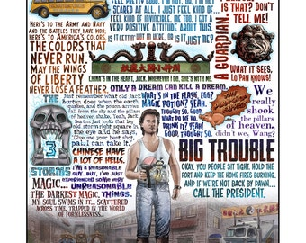 Big Trouble in Little China tribute (Limited Edition) signed print