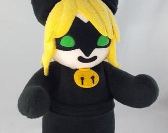 Cuddly Plush Black Cat