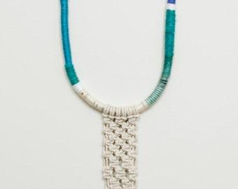 beth necklace - peacock blue