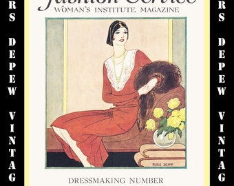 Vintage Sewing Magazine Fall & Winter 1929 Fashion Service Dressmaking Sewing and Fashion E-book -INSTANT DOWNLOAD-
