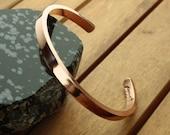 Copper cuff bracelet | 6mm or 10mm | smooth copper cuff | copper anniversary | wide copper cuff | men's cuff | women's cuff | made to order
