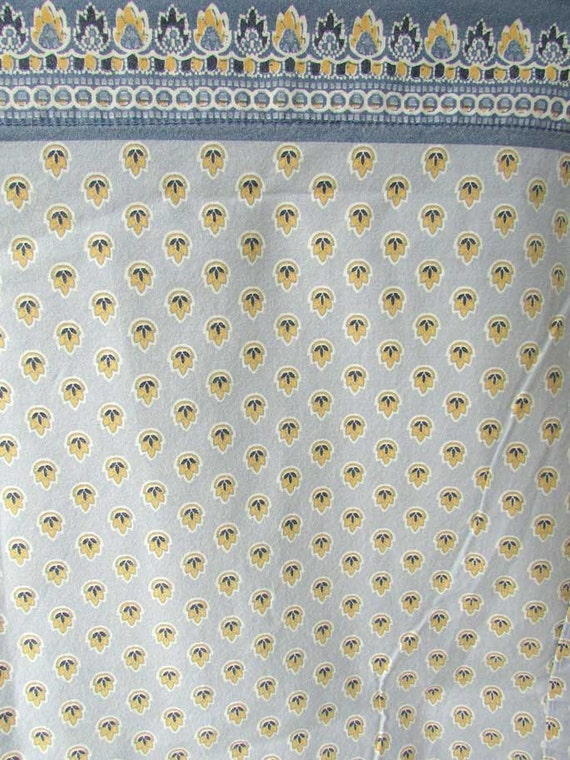 vintage queen size all cotton flat sheet in denim blue and. Black Bedroom Furniture Sets. Home Design Ideas