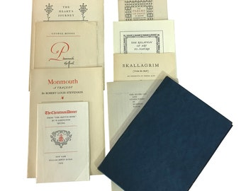 1920s Fine Book Pages, A Portfolio of Specimen Pages From Distinguished Books, First Edition