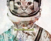 Cat-tronaut - Cat Artwork 5x7 - Cat Art - Cat Print - Cat Photo - Cat photograph - Cat Picture - Cat Poster - Gift for Cat lover