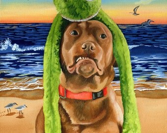 Custom Pet Portrait Painting  size 11 x 14, Original Dog or Cat Portrait, Custom Pet Portrait Painting, Dog Painting, Cat Painting
