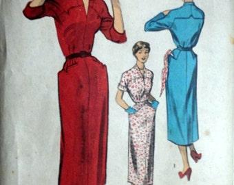 Vintage 1950's 50's Advance 5465 Sewing Pattern, Misses' Sheath Dress, Size 12, Bust 30, Uncut FF