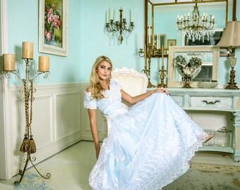 Vintage Lucy's Cinderella Princess Halloween Fairytale Quinceañera Wedding Gown Dress L