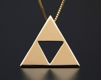 Triforce Pendant in 14kt Yellow Gold From The Legend of Zelda