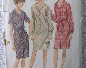 """1966 Dress - 34"""" Bust - Simplicity 6698 - Vintage Retro 1960s Sewing Pattern"""