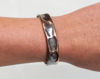 "1/2"" copper cuff, cuff, copper jewelry, copper, stamped, hammered metal, copper, hammered, copper bracelet, stacylynnc, handmade"