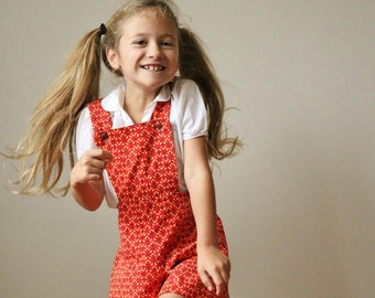1960s Floral Overalls >>> Size 5t/6