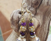 Royal Purple Morrocan Style Earrings