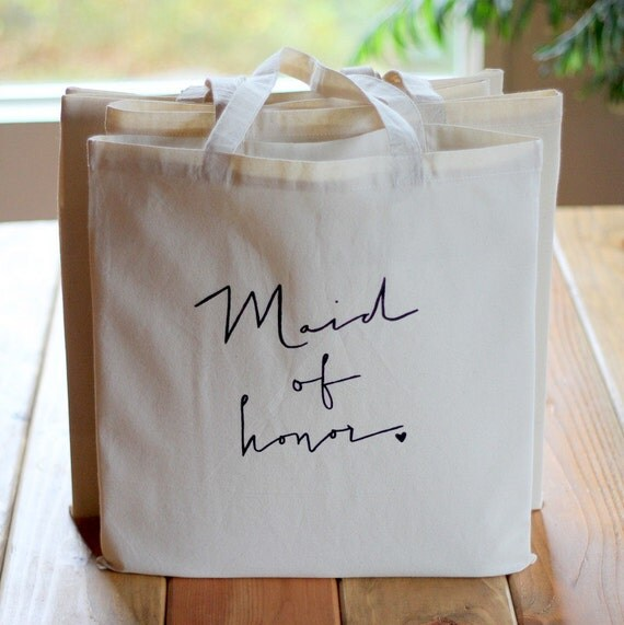 Maid of Honor Tote Bridal Party Bag Wedding Party Favor