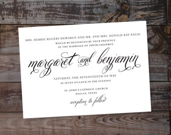Vintage Wedding Invitations Vintage Wedding Invites Modern Wedding Invitations, Wedding Invitation Templates, Printable Wedding Invitations,