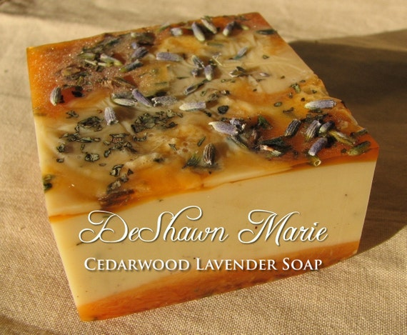 SALE SOAP- Cedarwood Lavender Soap - Vegan Soap - Soap Gift - Wedding Favors - Soap for men - Birthday Gift - Christmas Gift - Father's Day