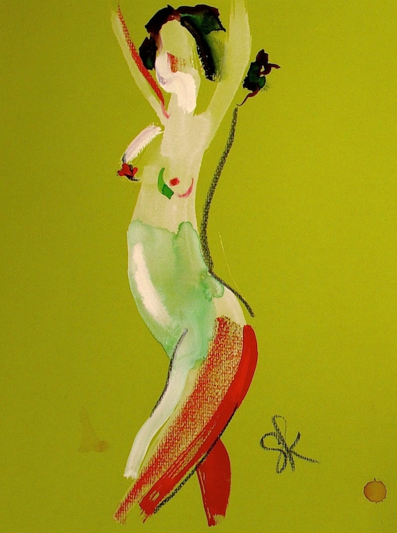 Nude painting of One minute pose 92.2 Original painting by Gretchen Kelly