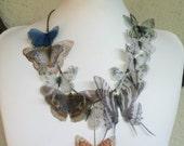 I Will Fly Away - Handmade Silk Organza Butterfly Necklace - American Butterflies