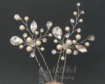 Wedding Hair Pins Sets,Bridal Hair Accessories, Gold Bridal Hair Pins, Gold Hairpins Bridal Headpieces, Wedding hair clips hairpins