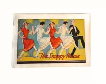 Vintage 1925 Stetson shoes advertising booklet - The Snappy Revue - Flapper clothing and shoes