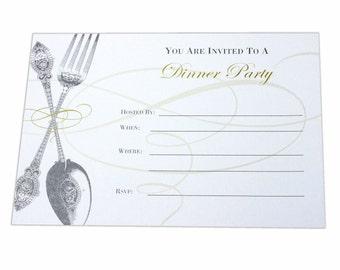 Dinner Party Fill In Invitation