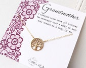 Grandmother gift, Mothers Day gift for grandmom, grandmother of the bride, family tree necklace, otis b, meaningful jewelry gift